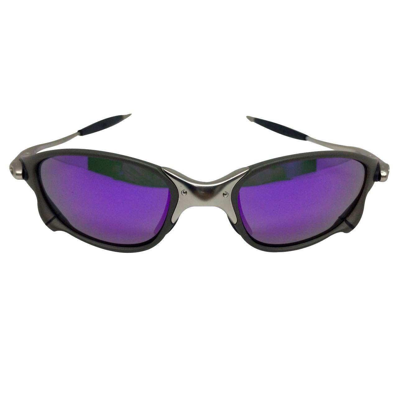 Óculos Oakley Juliet Doublexx Tio2 cromado lente roxa – Sanfer ... 342b6d4c2e